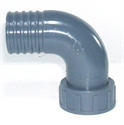 """Picture of 1 1/2"""" PVC Female Hosetail Elbow"""