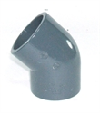 "Picture of 1 1/2"" PVC 45 Degree Elbow"
