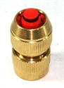 """Picture of 1/2"""" Brass Click Connector With Stop"""